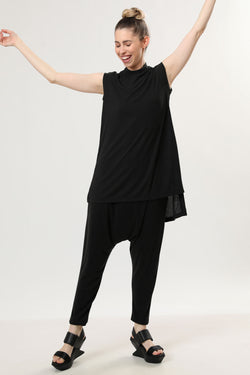 Kimi Tank Top Black Rib - layou-design