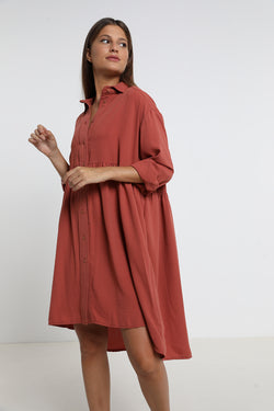 Lily dress Burnt Sienna - layou-design