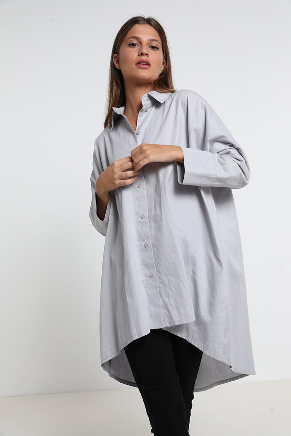 Jenny shirt Grey - Layou Design by Shay Sobol