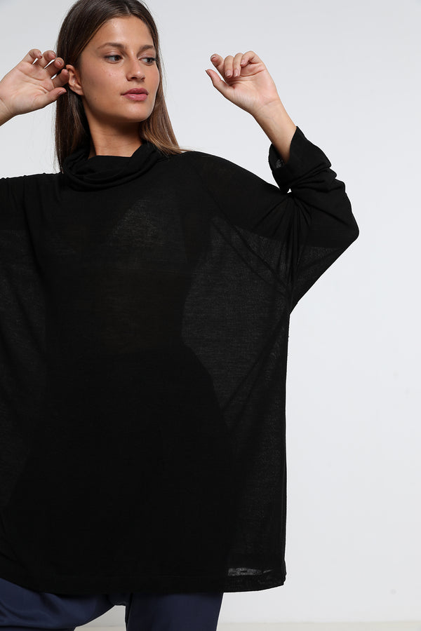 Giselle sweatshirt black - layou-design