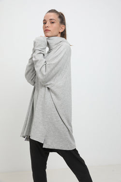 Lola sweater Light Grey stripes - layou-design