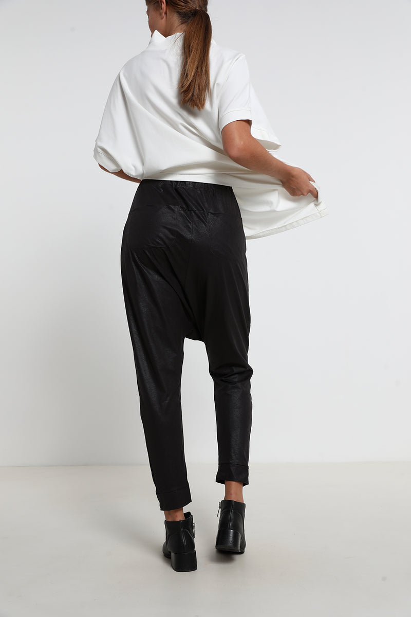 Juliet pants Black leatherette - layou-design