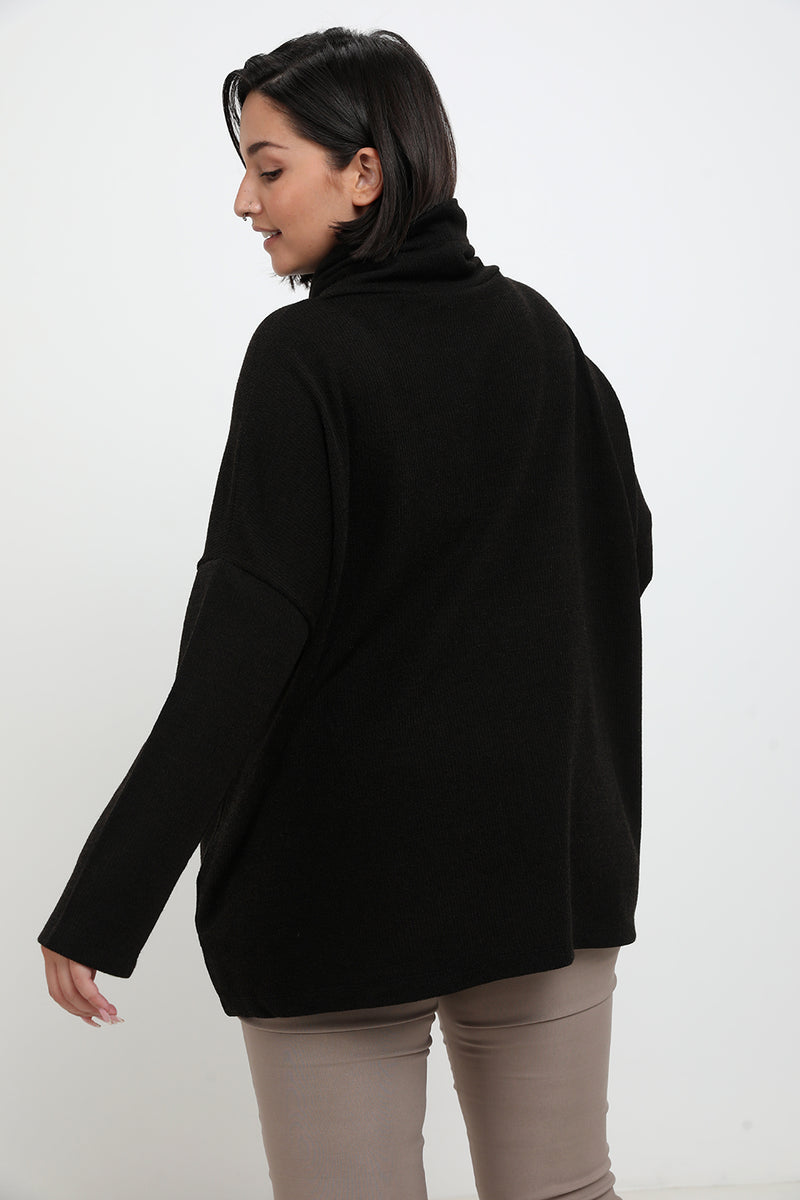Georgina sweater Black - Layou Design by Shay Sobol