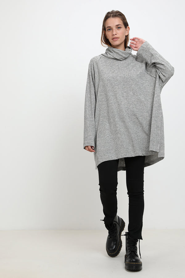 Lola sweater dark Grey stripes