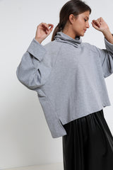 Diana sweater Grey - Layou Design by Shay Sobol