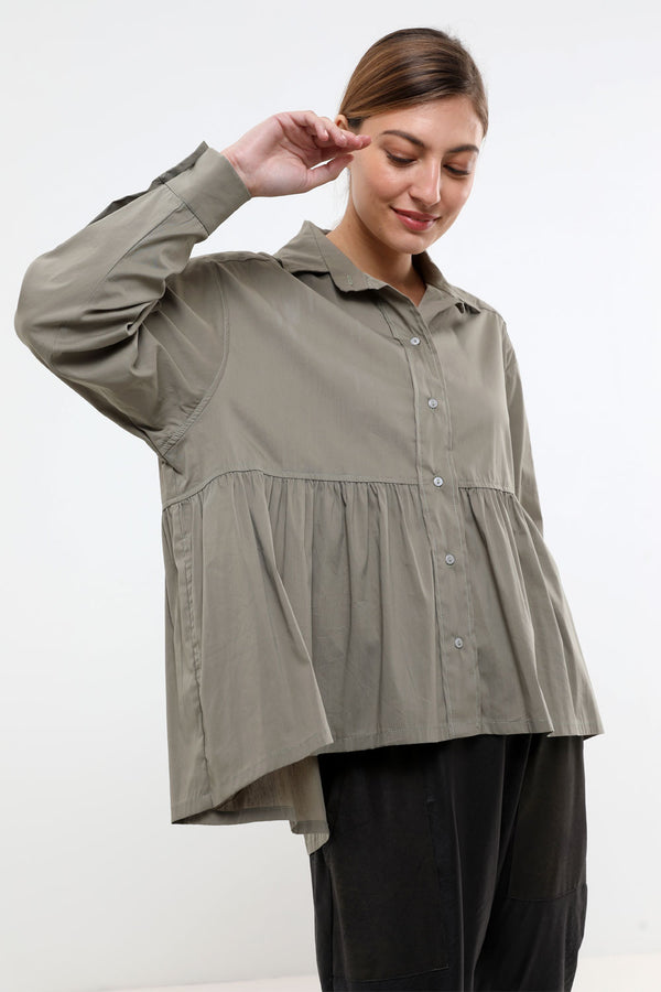 Zoe shirt olive - layou-design