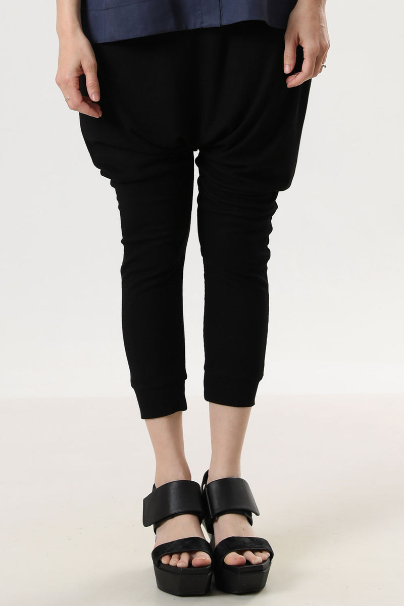 Harem Pants Black Slab - layou-design