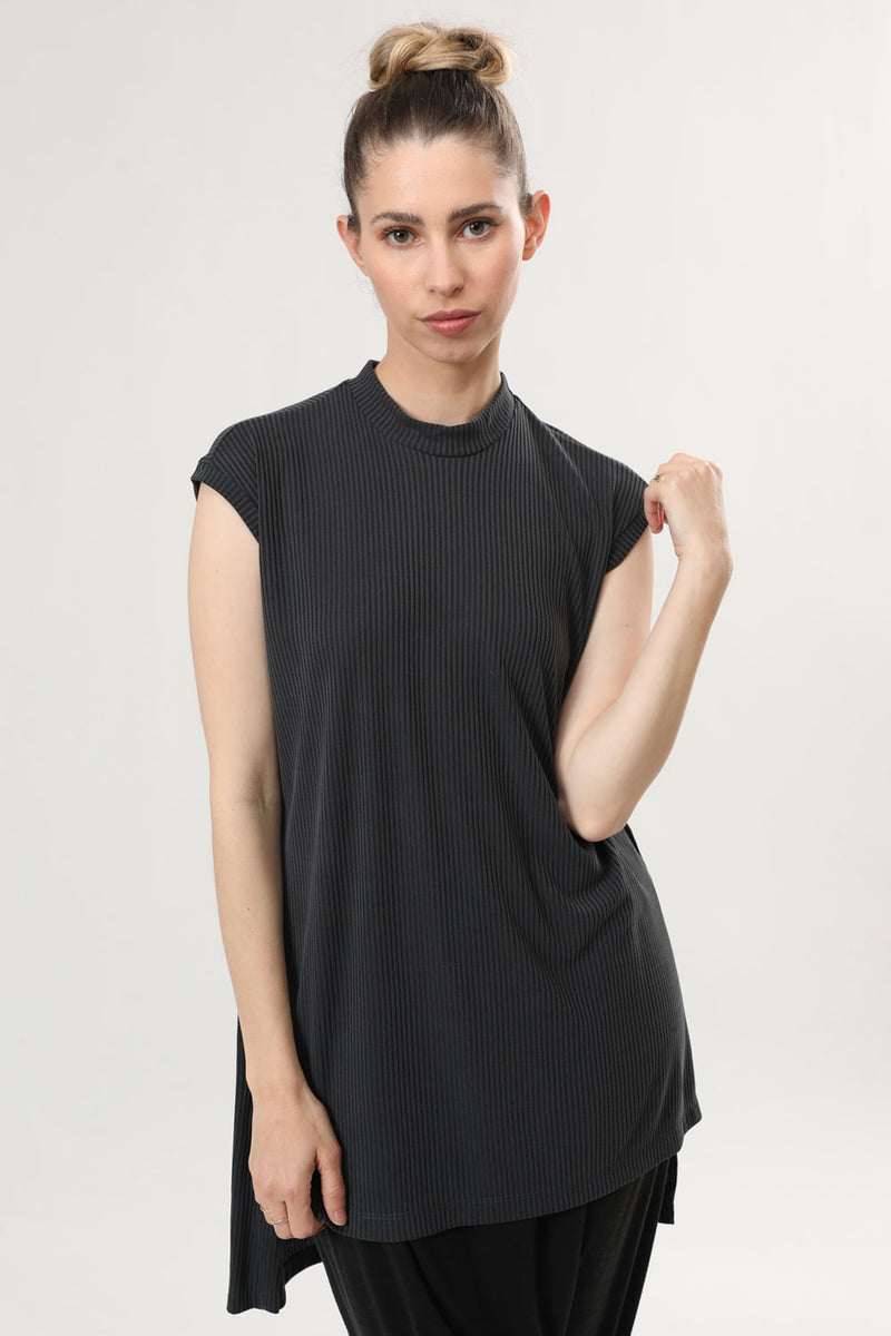 Kimi Tank Top Dark Grey Rib - layou-design