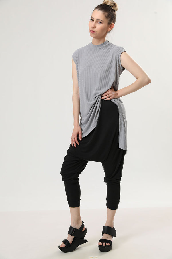 Kimi Tank Top Light Grey Rib - layou-design