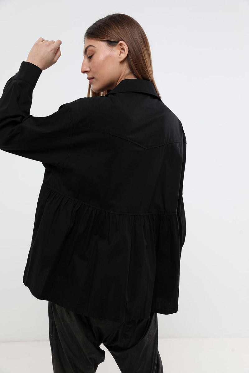 Zoe shirt black - layou-design