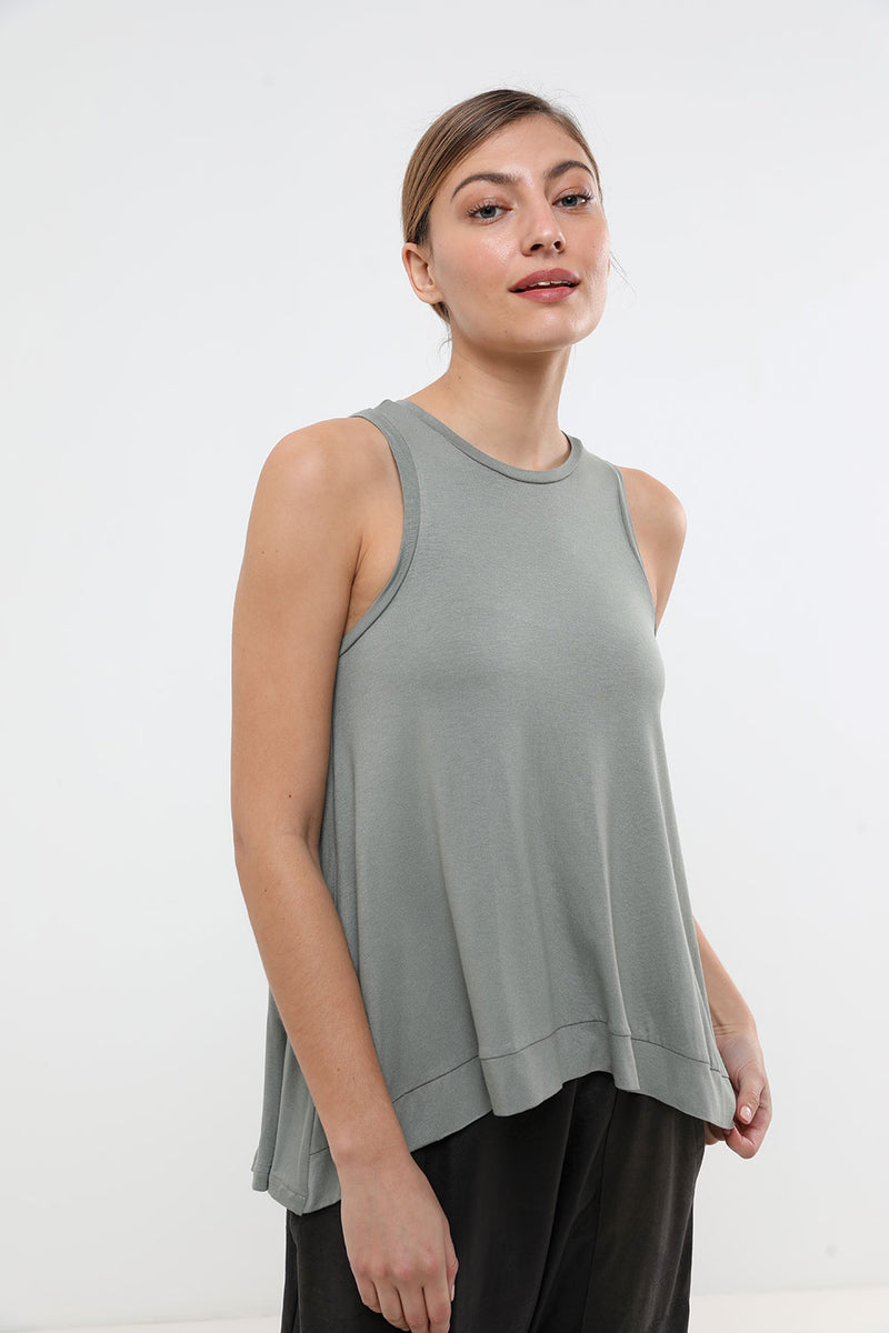 Birdy Tank Top Olive - Layou Design by Shay Sobol