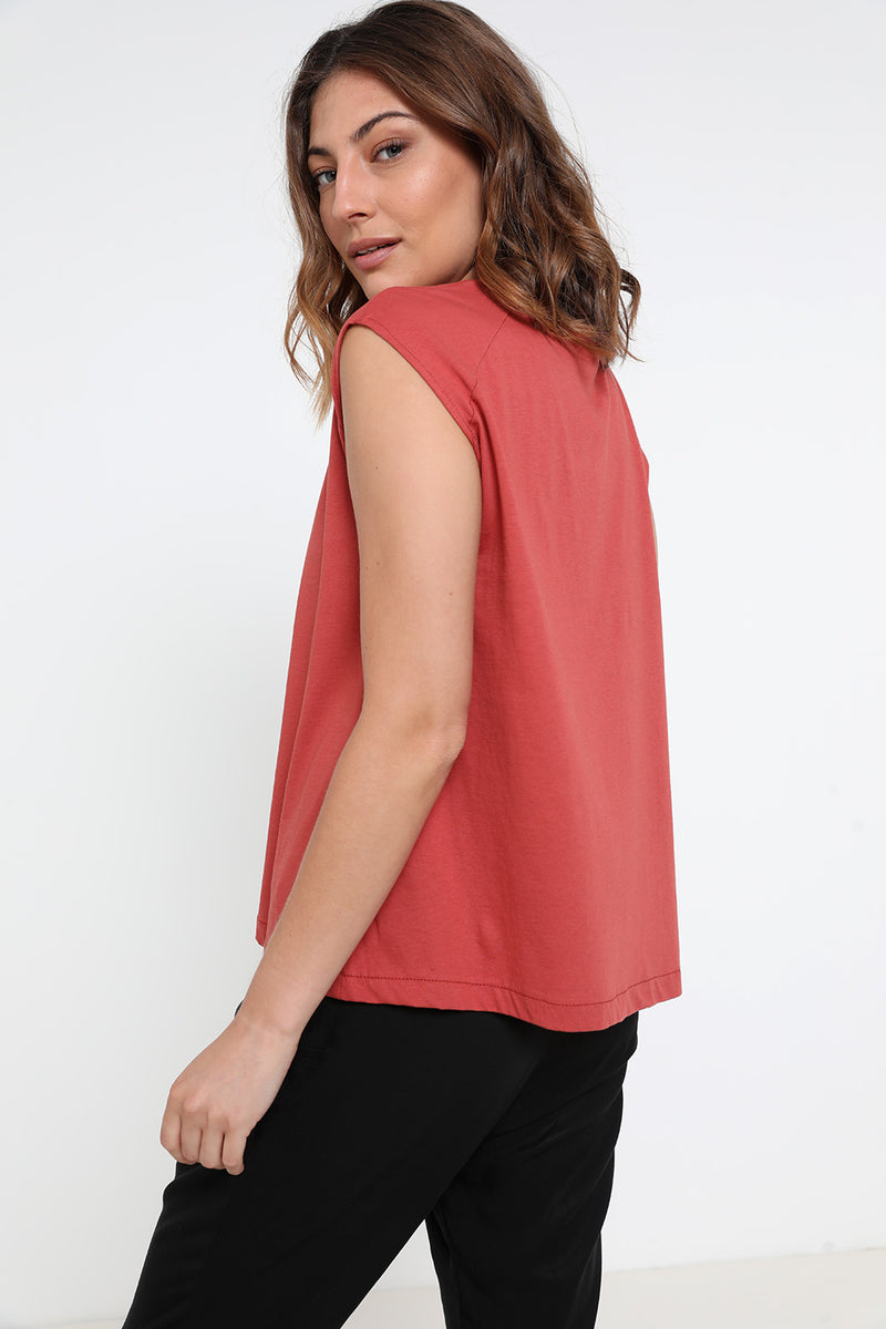 Logan tank top brick - layou-design