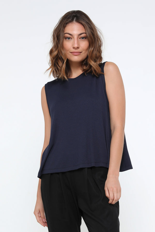 Luke tank top navy - layou-design