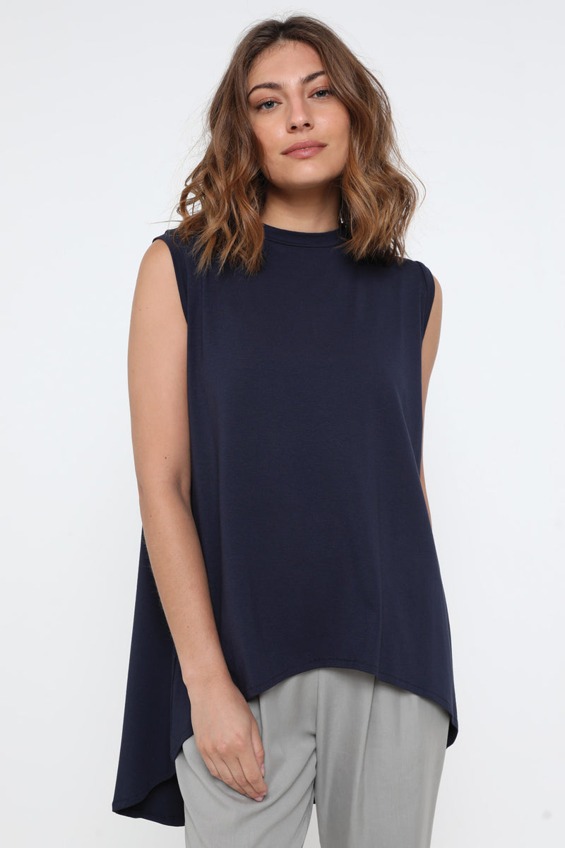 Mrs. Kim tank top navy - layou-design