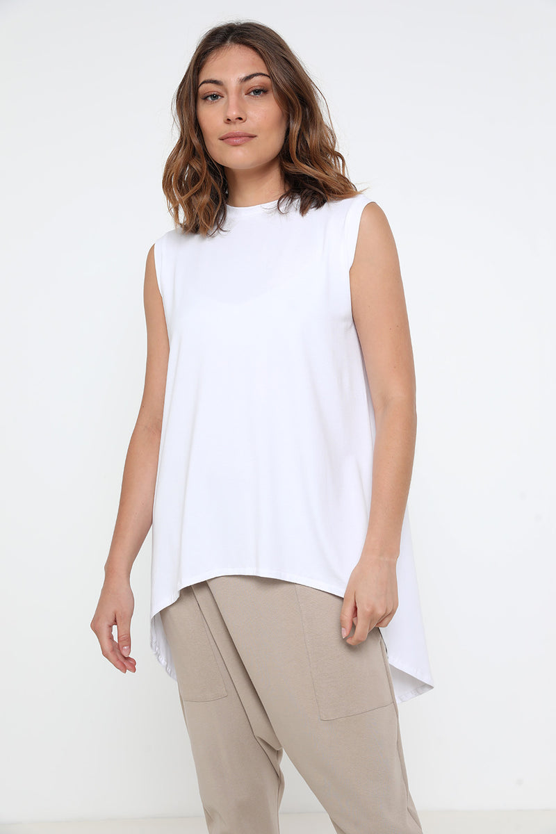 Mrs. Kim tank top white - layou-design