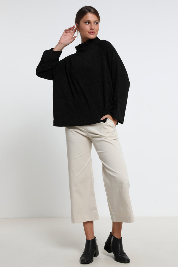 Elinor sweater black como - layou-design