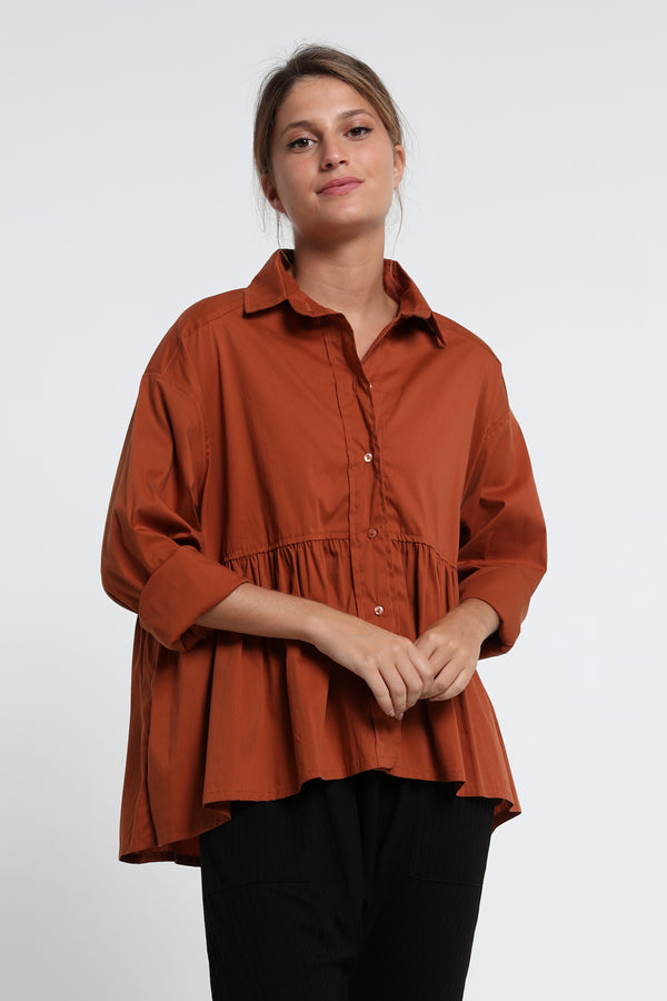 Zoe shirt squash - Layou Design by Shay Sobol