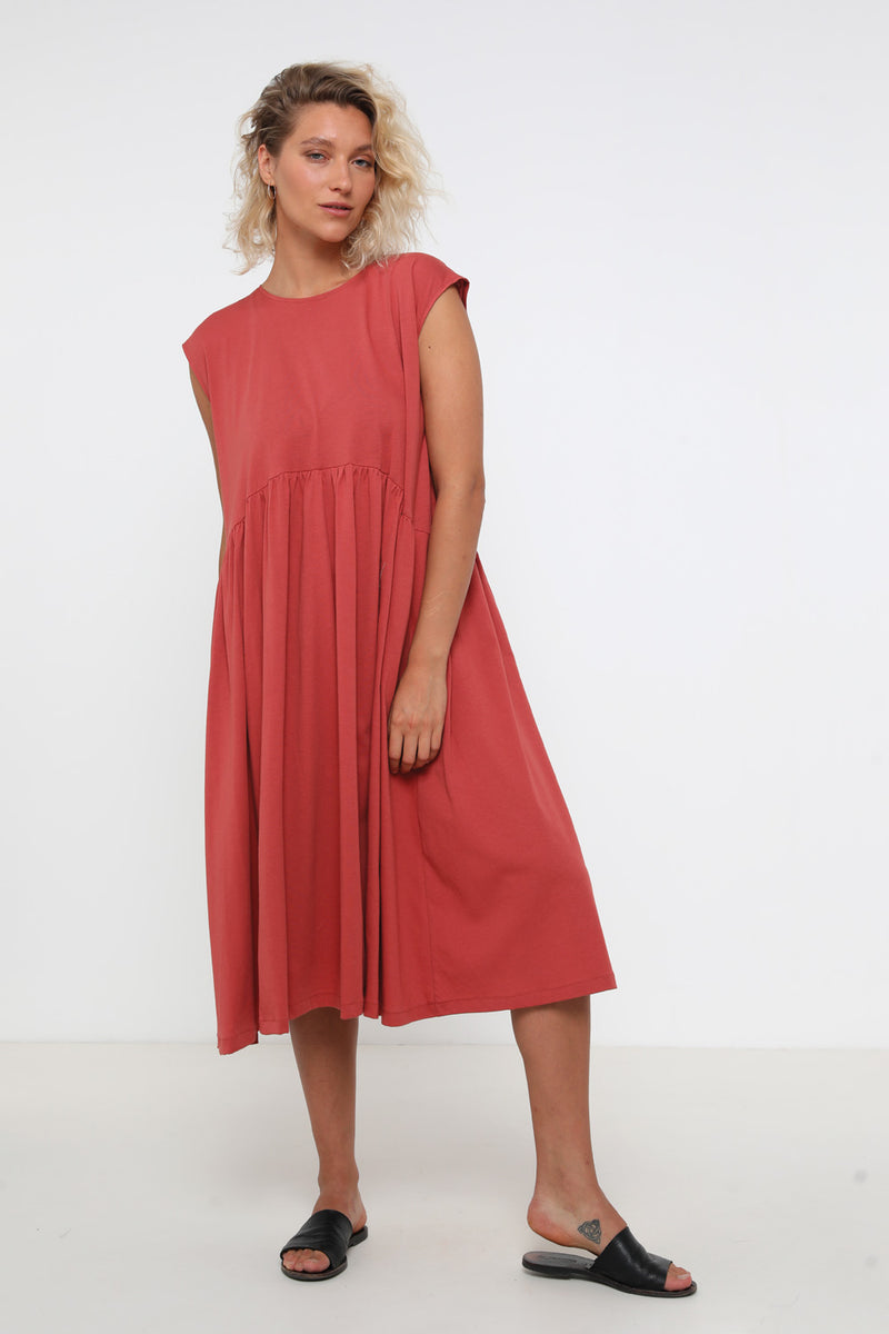 Jess dress brick - layou-design