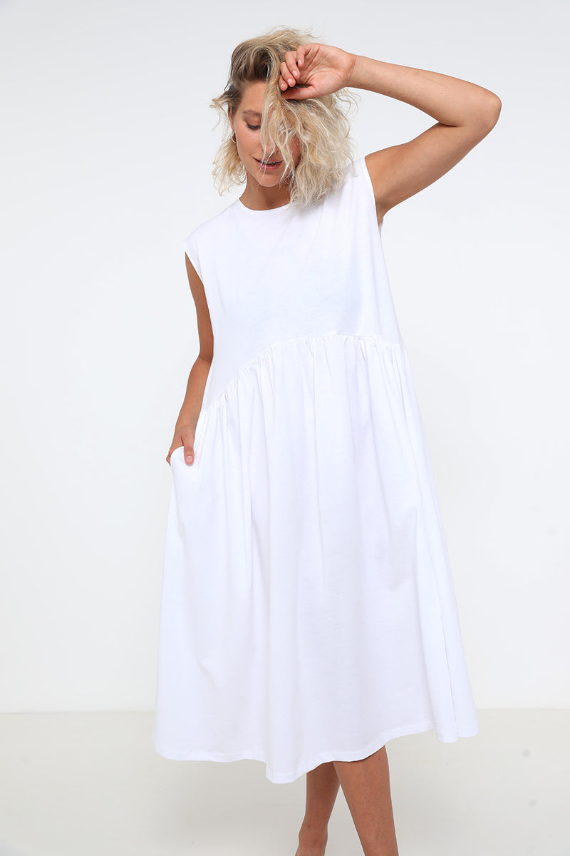 Jess dress white - Layou Design by Shay Sobol