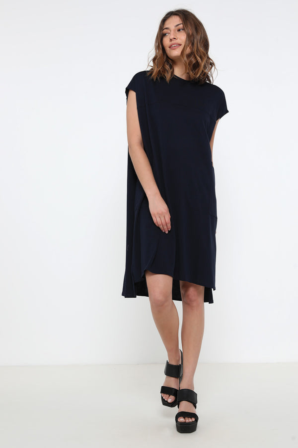 Kirk dress navy - layou-design