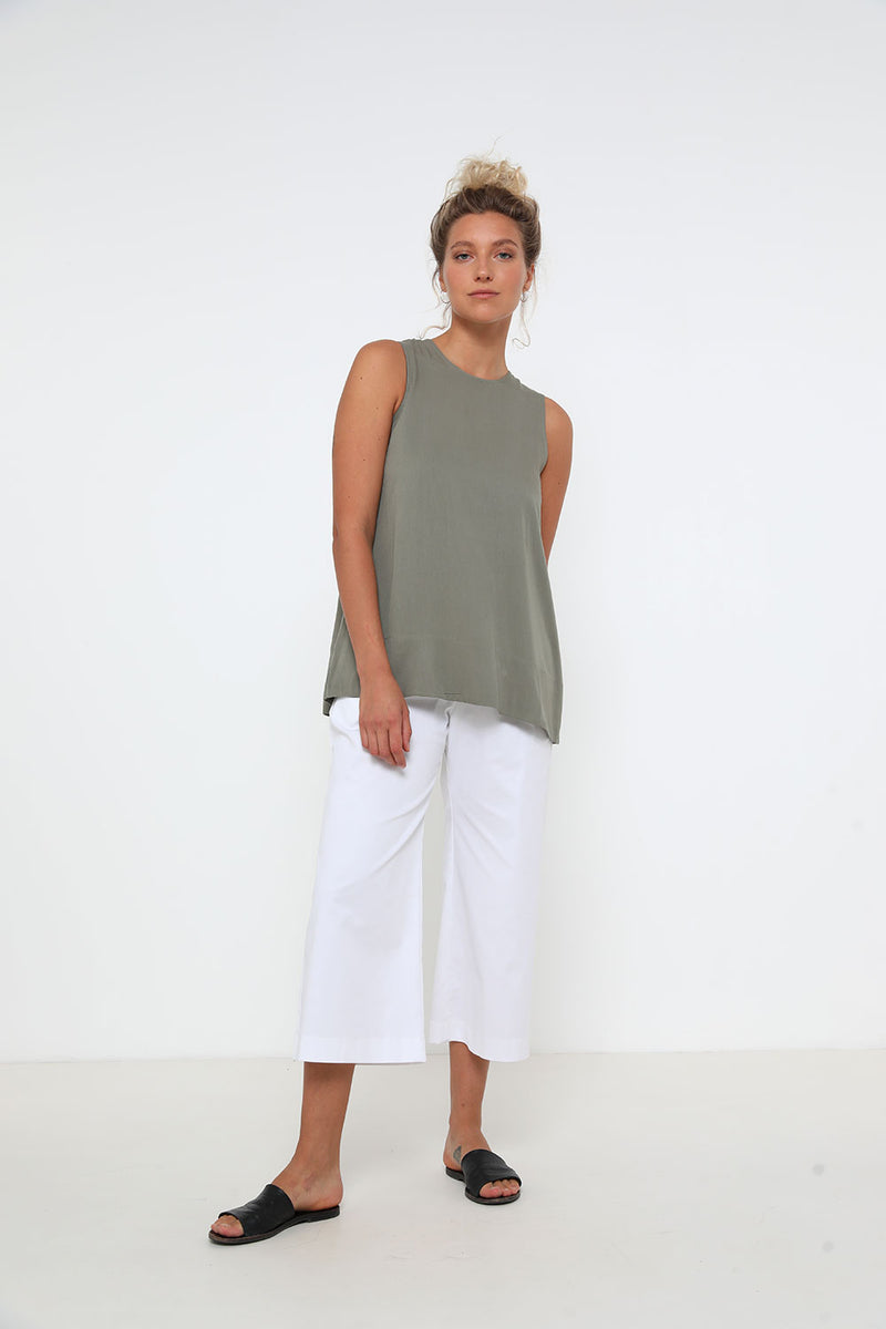 Sterling Tank Top Olive - Layou Design by Shay Sobol