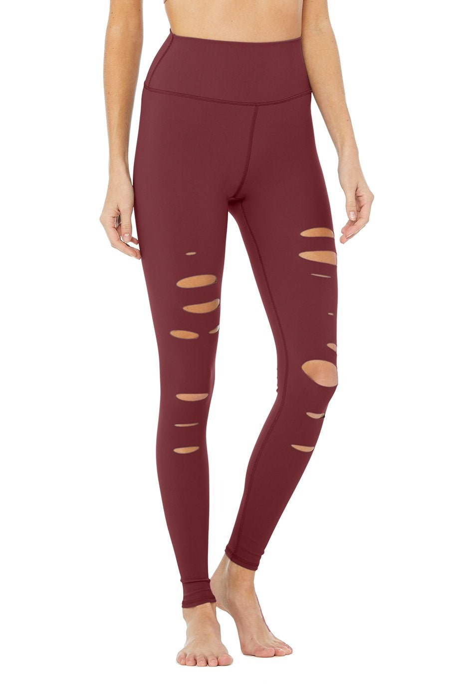 Alo High-Waisted Ripped Warrior Leggings