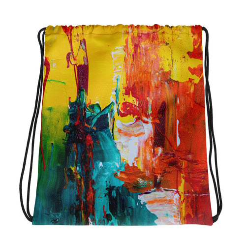 Abstract Drawstring bag