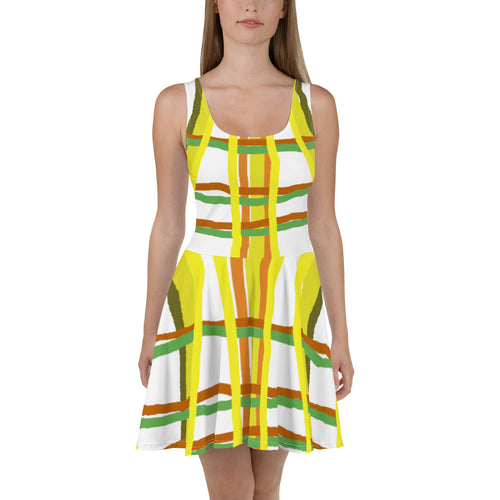 Brush Stroke Skater Dress