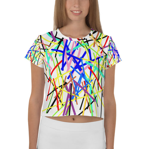 Color Burst Crop Tee