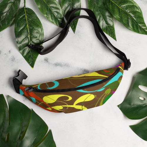 Brown Swirl Fanny Pack