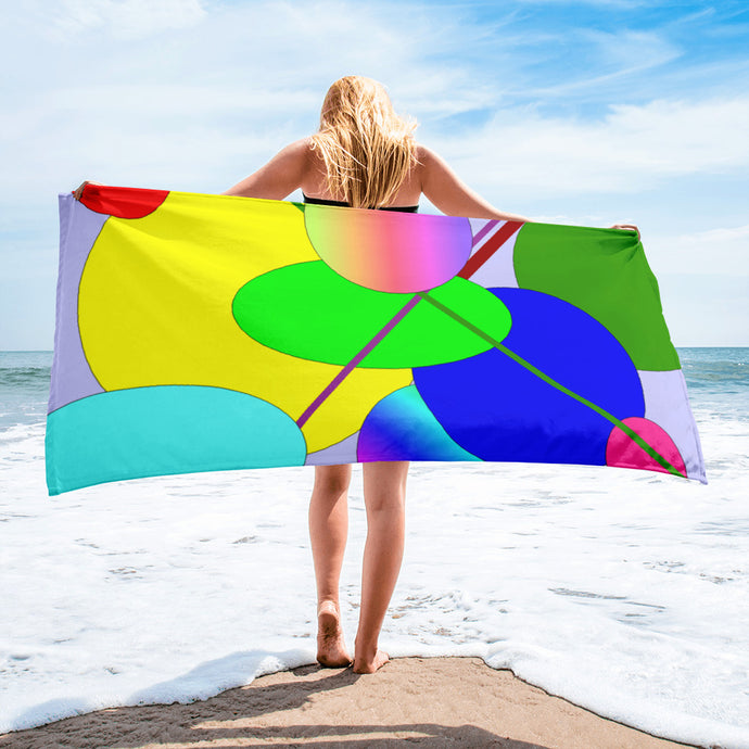 Colored Circles Beach Towel