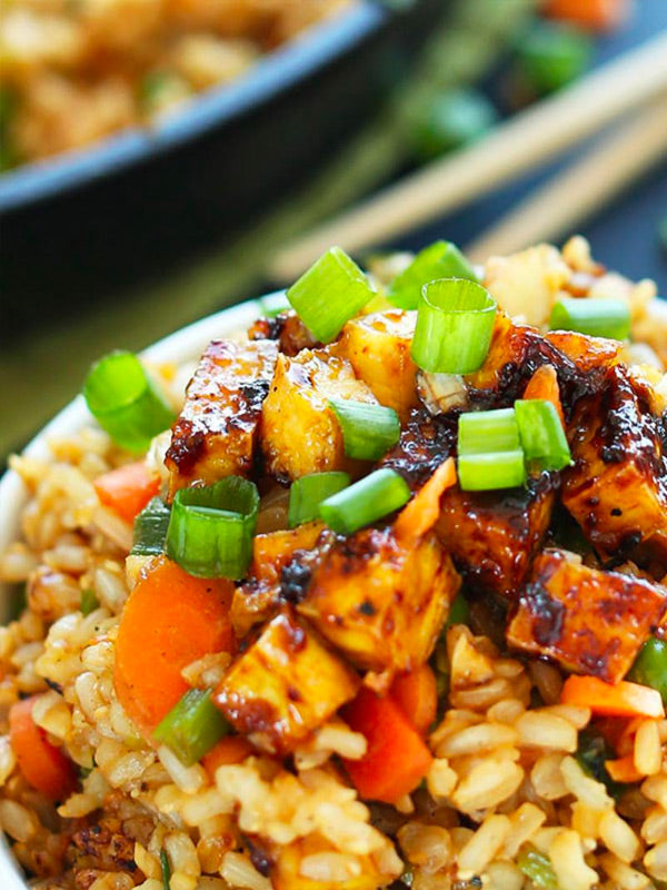 Vegetarian Skinny Latina Rice Bowl with Tofu