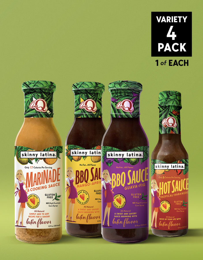 Marinade, Guava-Fig BBQ, Mango-Apricot BBQ & Hot Sauce 4-Pack