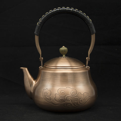 Image of Handmade Red Copper Teapot