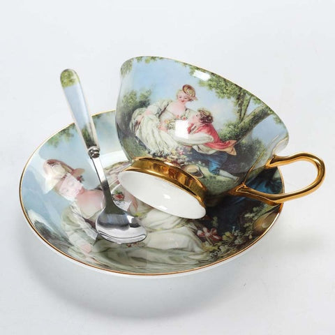 Image of Porcelain Tea Cup And Saucer