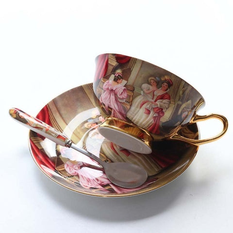 Porcelain Tea Cup And Saucer