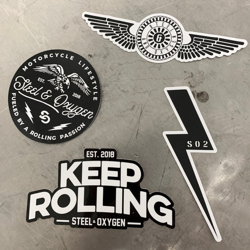 Steel and Oxygen Stickers 4 pcs