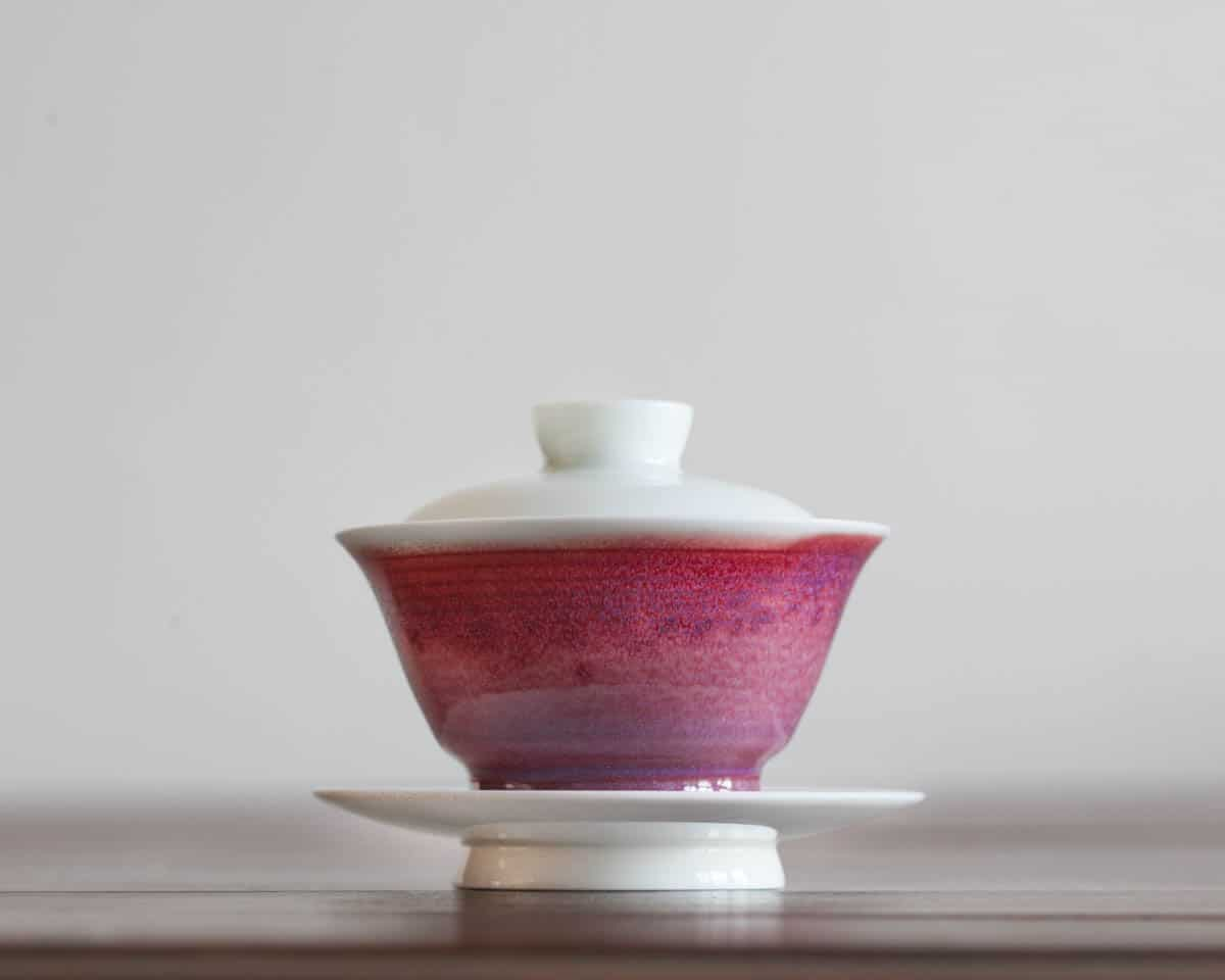 Jindezhen china purple red gaiwan, teaware