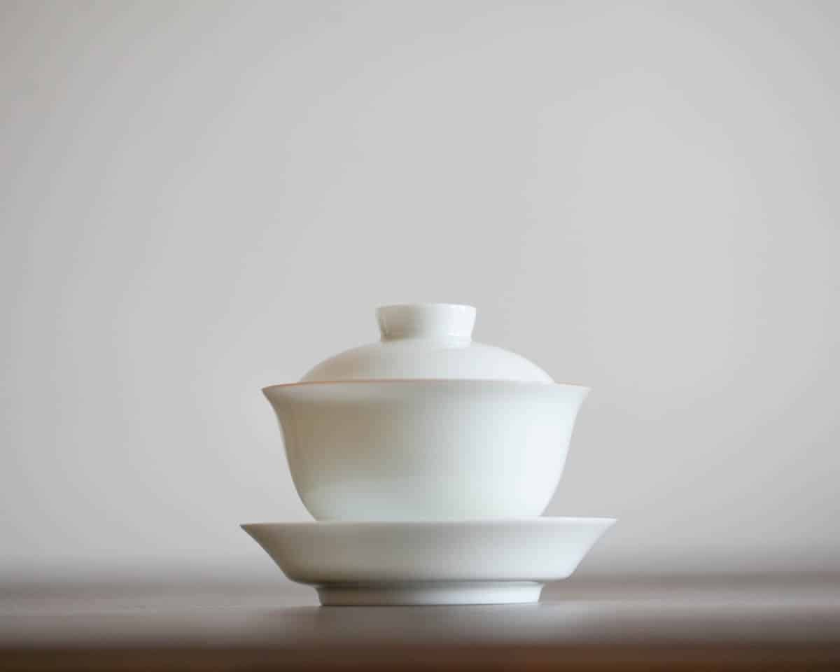 Jindezhen china white gaiwan, teaware