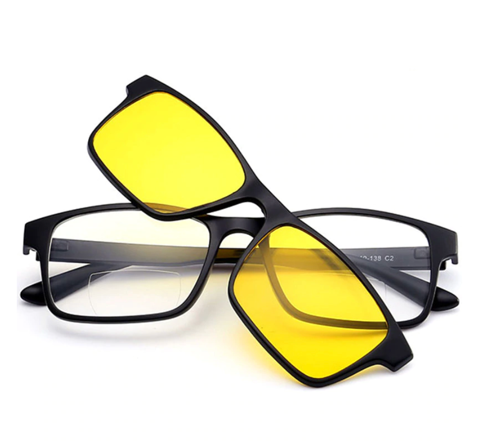 Reading Glasses With Magnetic Polarized Clips