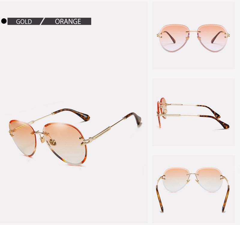 Ladies Frameless Aviator Sunglasses