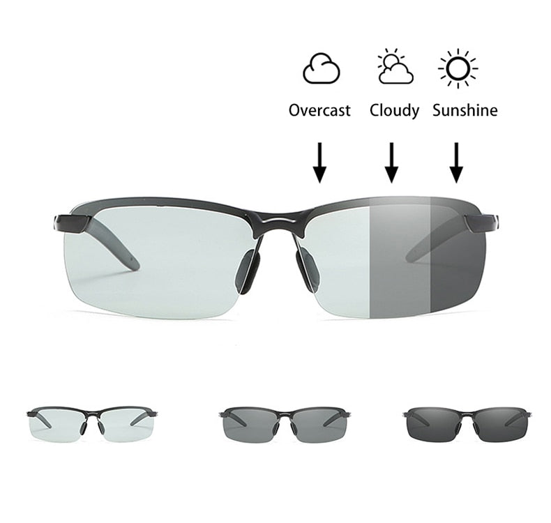 Photochromic Polarized  (Sports) Sunglasses Windproof UV400