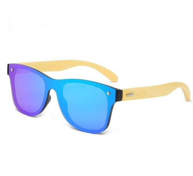 Handmade Bamboo Wood Rimless Mirror Sunglasses