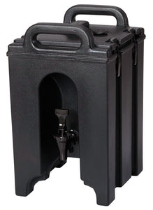 Cambro 100LCD110 Camtainers® 1.5 Gallon Black Insulated Beverage Dispenser - Disposables-Gradys