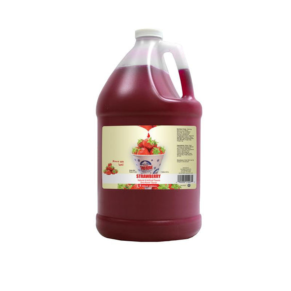 Strawberry Sno-Kone Syrup - Disposables-Gradys