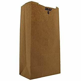 6 Lb Kraft Grocery Bag - Disposables-Gradys