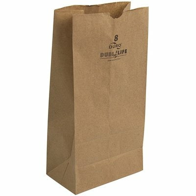 8 Lb Kraft Grocery Bag - Disposables-Gradys