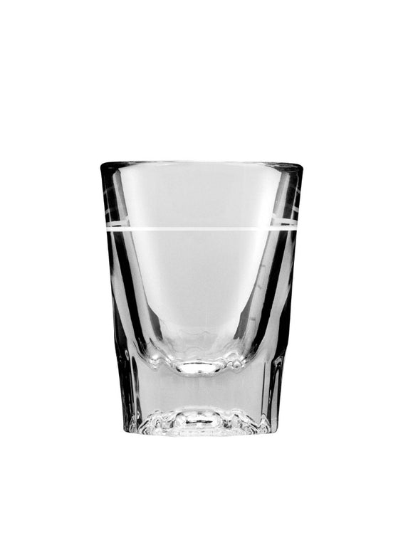 Anchor Hocking 5282/928U - 2 oz Whiskey / Shot Glass with 1 oz Line Marker - 48 per case - Disposables-Gradys