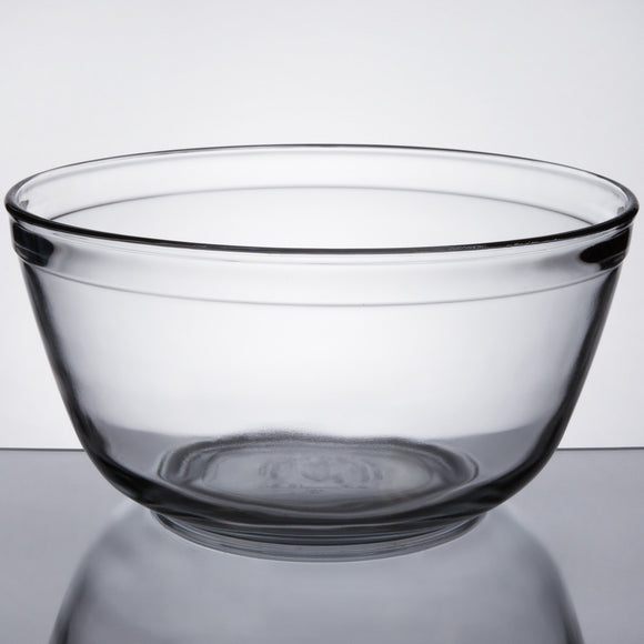 Anchor Hocking 4 Qt. Glass Mixing Bowl - Disposables-Gradys