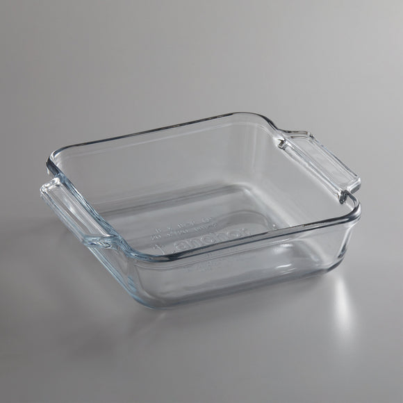 Anchor Hocking 8 in. Square Cake Dish - Disposables-Gradys